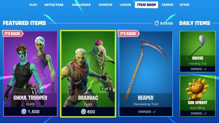 Fortnite Item Shop Countdown – October 3rd, 2020 (Fortnite Item Shop LIVE)